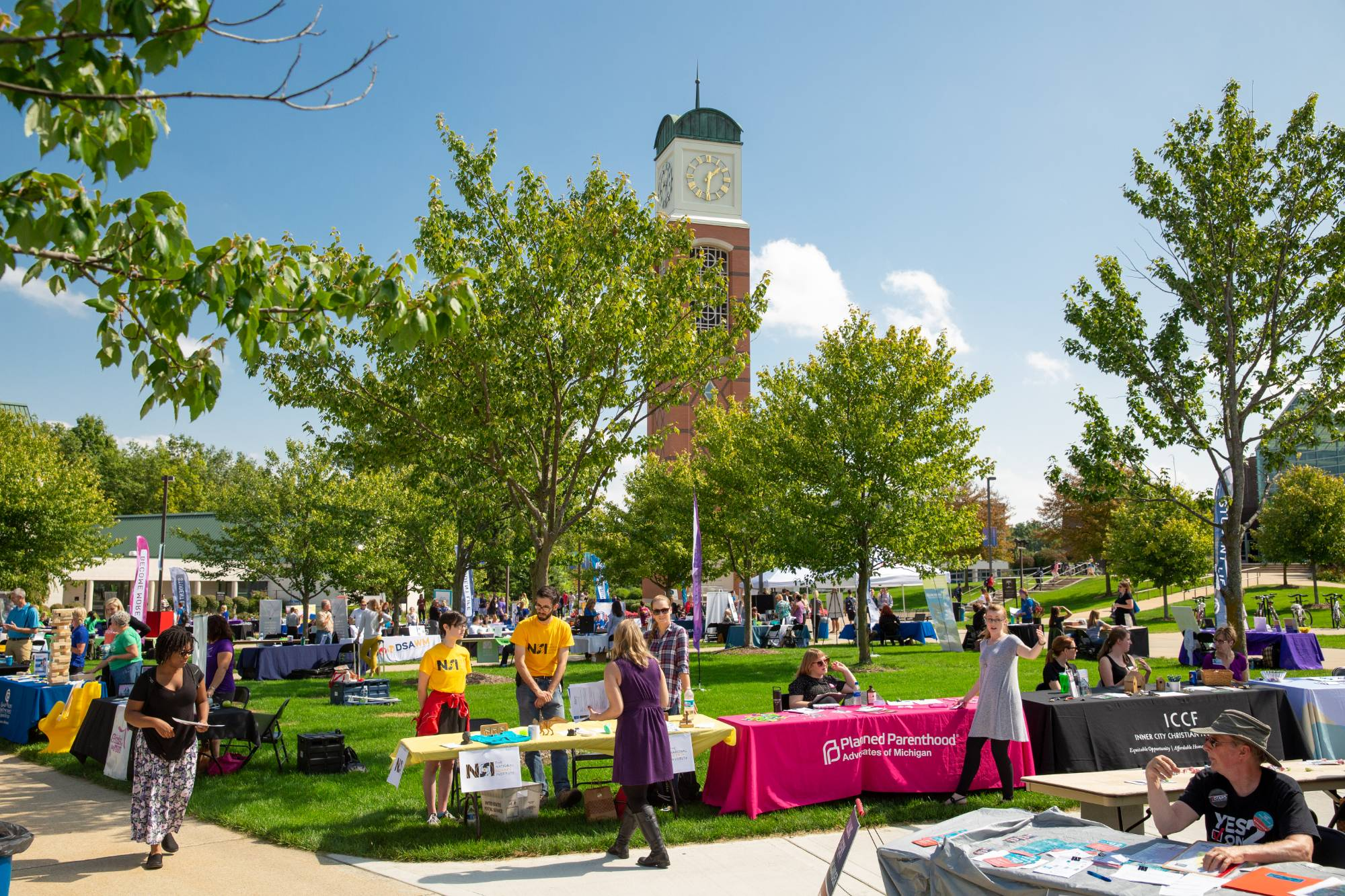 Kirkhof lawn view during the nonprofit and volunteer fair